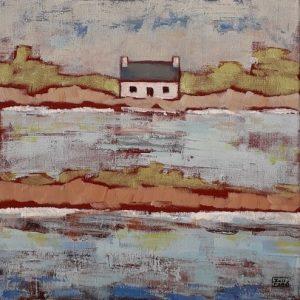 Maison du littoral, Bretagne, acrylique sur toile.