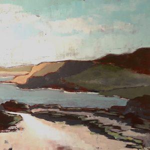 Sentier du littoral, Bretagne, acrylique sur toile.